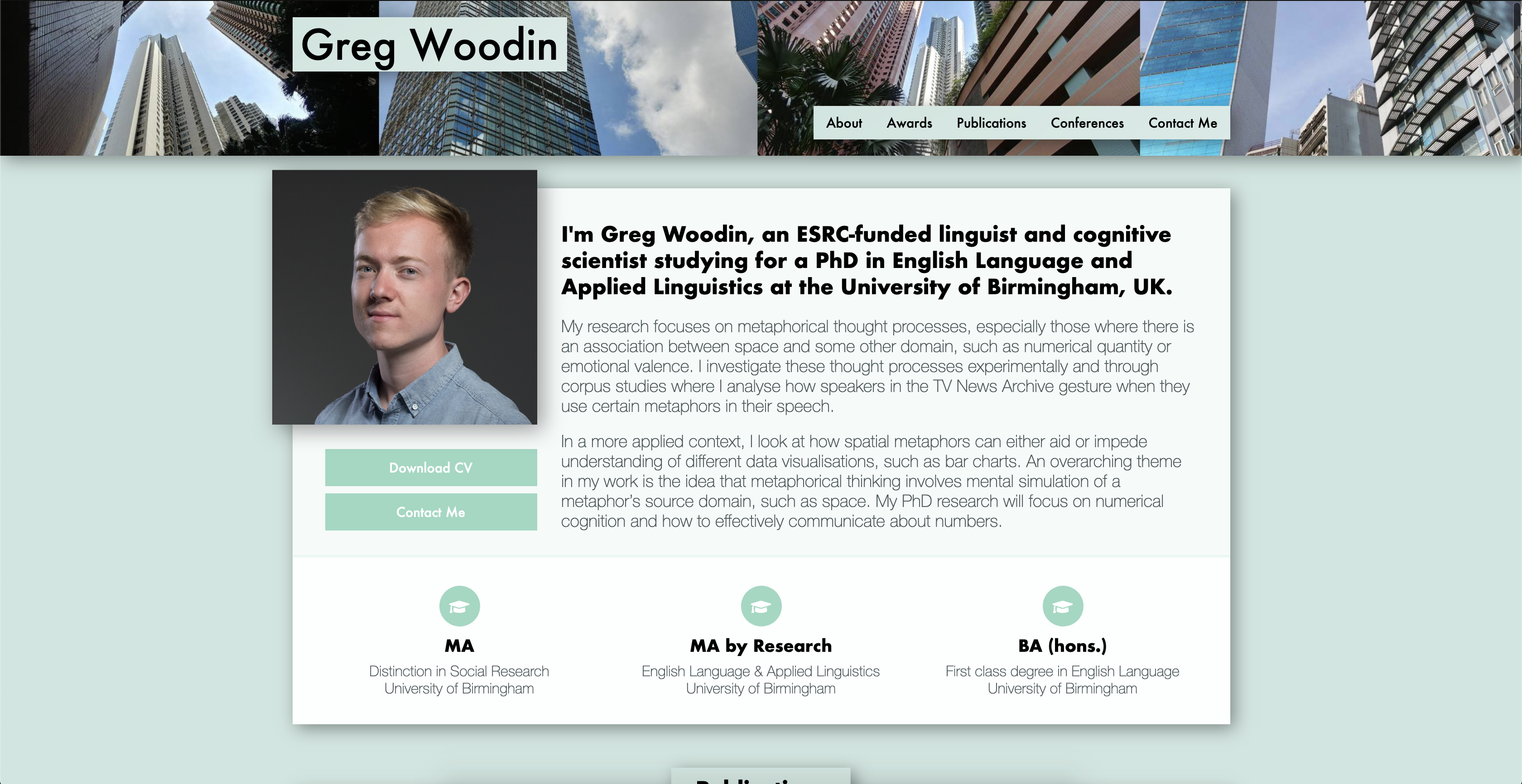 Home page of www.gregwoodin.co.uk